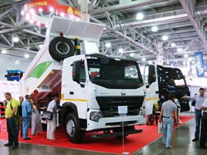 Sinotruk Shows Off Its HOWO Trucks at Khartoum Exhibition